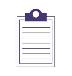 clipboard document checklist isolated icon design vector image