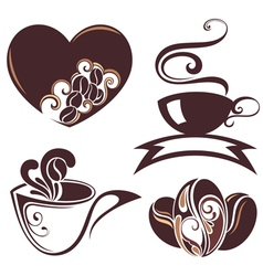 Coffee design symbols vector image