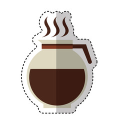 Coffee teapot drink isolated icon vector