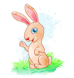 Cute cartoon rabbit vector