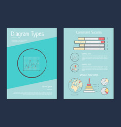 daigram types presentation vector image