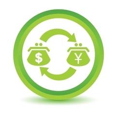 Dollar-Yen exchange volumetric icon vector
