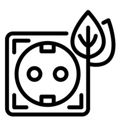 eco energy socket icon outline style vector image