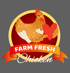 farm fresh chicken banner vector image