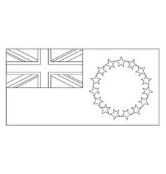 Flag of cook islands 2009 vintage vector