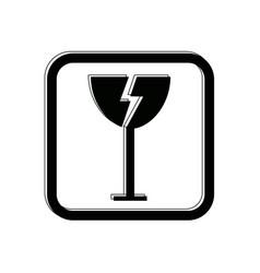 Fragile icon packaging symbol concept premium vector
