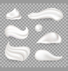 Fresh whipped cream collection vector