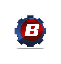 Gear logo letter b vector
