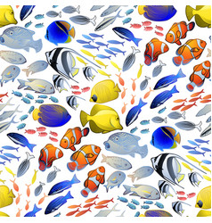 graphic ocean fish pattern vector image vector image