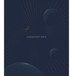 Graphic space background vector image