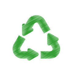 Green arrow recycle environment design vector