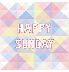 Happy Sunday background3 vector image