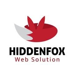Hidden Fox Design vector image