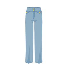 high waist denim pants fashion style item vector image