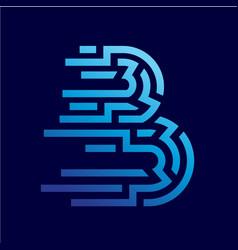 Line letter b abstract logo design vector