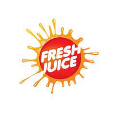 Logo for fresh juice on white vector
