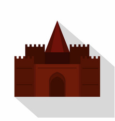 Medieval palace icon flat style vector
