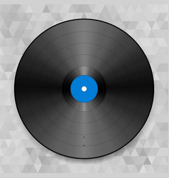 Of a vinyl record on the abstract vector