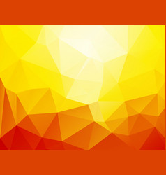 orange sun geometric mosaic background vector image