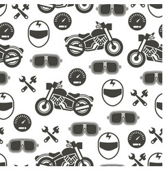 Pattern with motorcycle speed - moto seamless vector