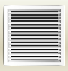 Photorealistic bathroom ventilation window vector