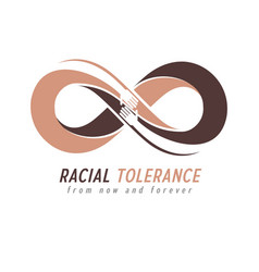 Racial tolerance conceptual symbol martin luther vector