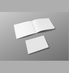 realistic 3d cover brochure book or catalog mock vector image