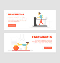 rehabilitation physical medicine landing page vector image