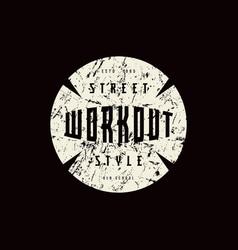 Round emblem workout vector