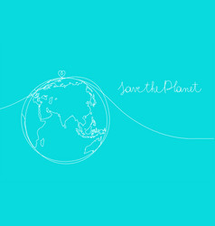 save planet concept sketch vector image