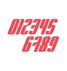 set ten numbers form zero to nine number vector image