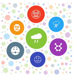 Shock icons vector