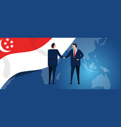 singapore international partnership diplomacy vector image