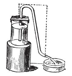 Siphon vintage engraving vector image
