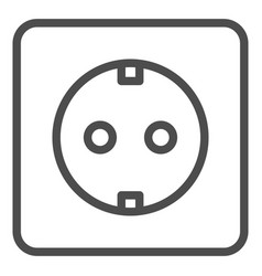 Socket line icon electrical vector
