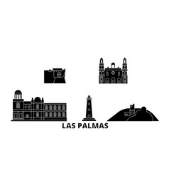 spain las palmas flat travel skyline set spain vector image