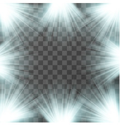 spotlight blue light effect vector image