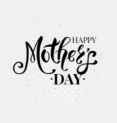 stylish black and white mothers day card design vector image