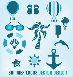 summer logos design vector image