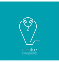 The symbol of the snake vector image