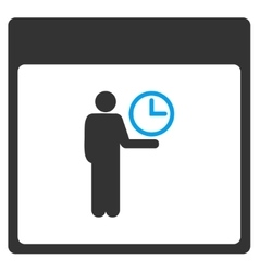 Time Manager Calendar Page Toolbar Icon vector