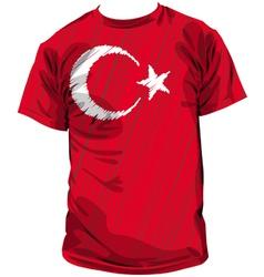 Turkish tee vector image