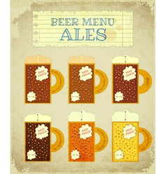 Vintage Beer Card Ales vector image