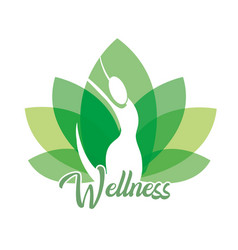 Wellness woman with natural therapeutic treatment vector