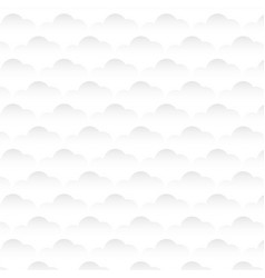 white cloud background vector image