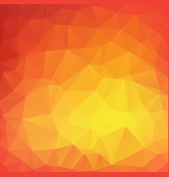 yellow poly abstract background vector image