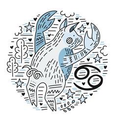 zodiac signes cancer vector image