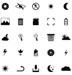 camera function icon set vector image