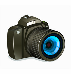 photo camera icon side view on white background vector image vector image