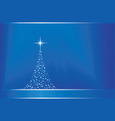 Abstract blue background with christma vector
